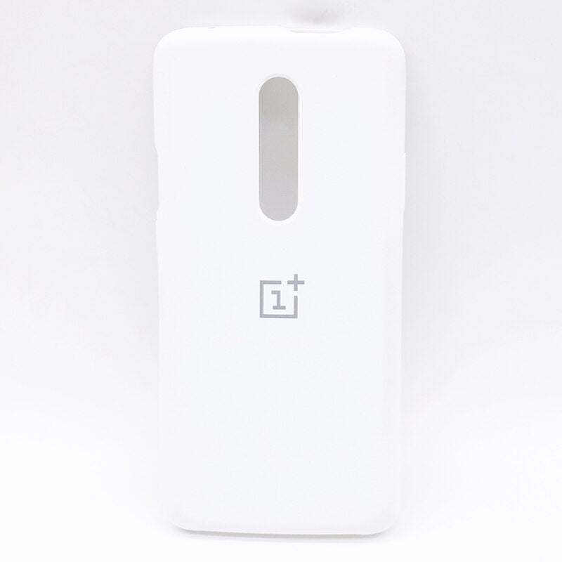 White Silicone Case For OnePlus 7 Pro