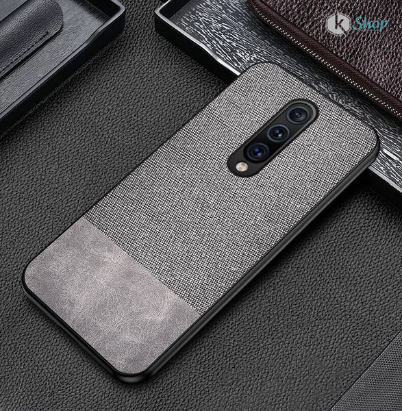 Canvas Fabric Cover - OnePlus 7 Pro ( Grey ) - Mobilegadgets360