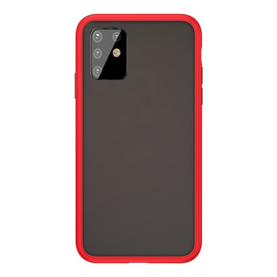 Samsung A81 Matte Cover - Red