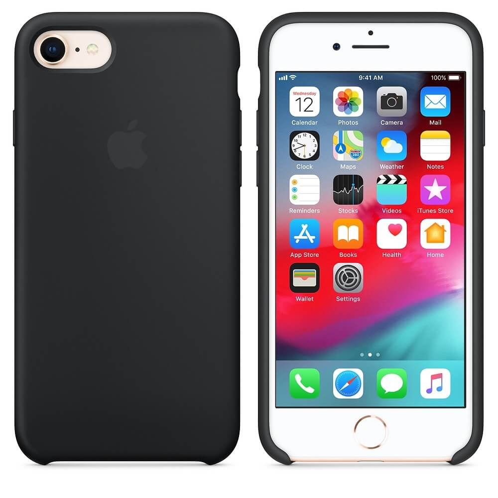Black Liquid Silicon Case - iPhone 7 / 8 - Mobilegadgets360