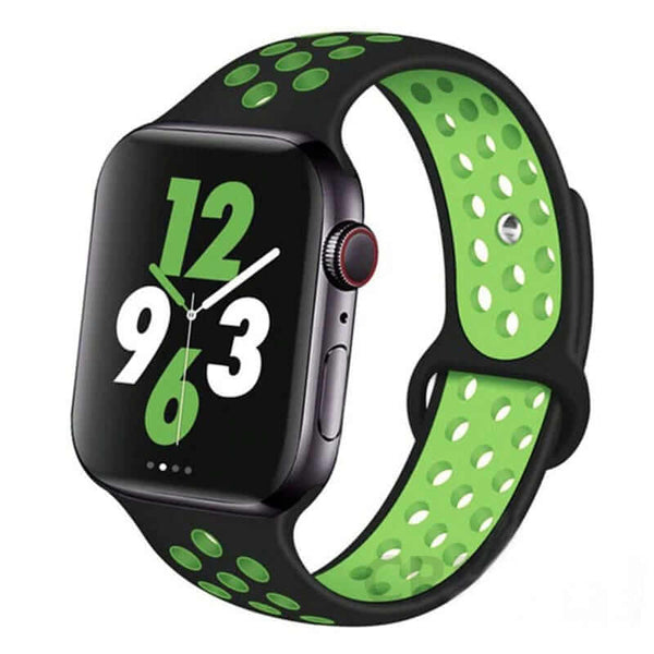 Black / Green Sports Apple Watch Band ( 42/44mm)