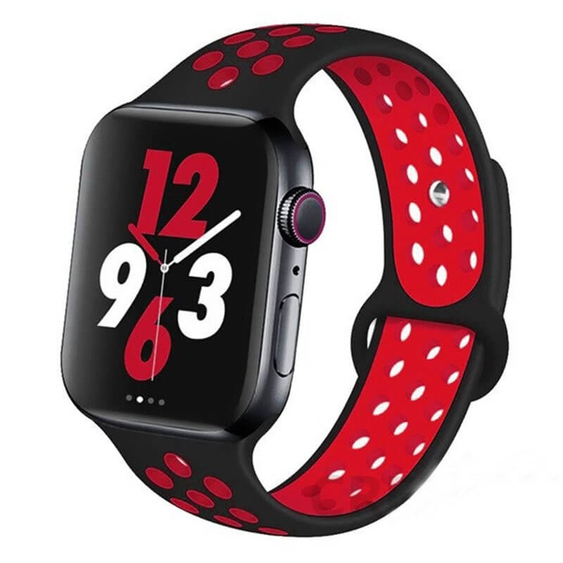 Black / Red Sports Apple Watch Band ( 42/44mm)