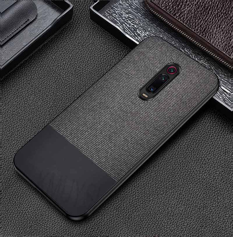 Black Canvas Fabric Cover - Redmi K20 - Mobilegadgets360
