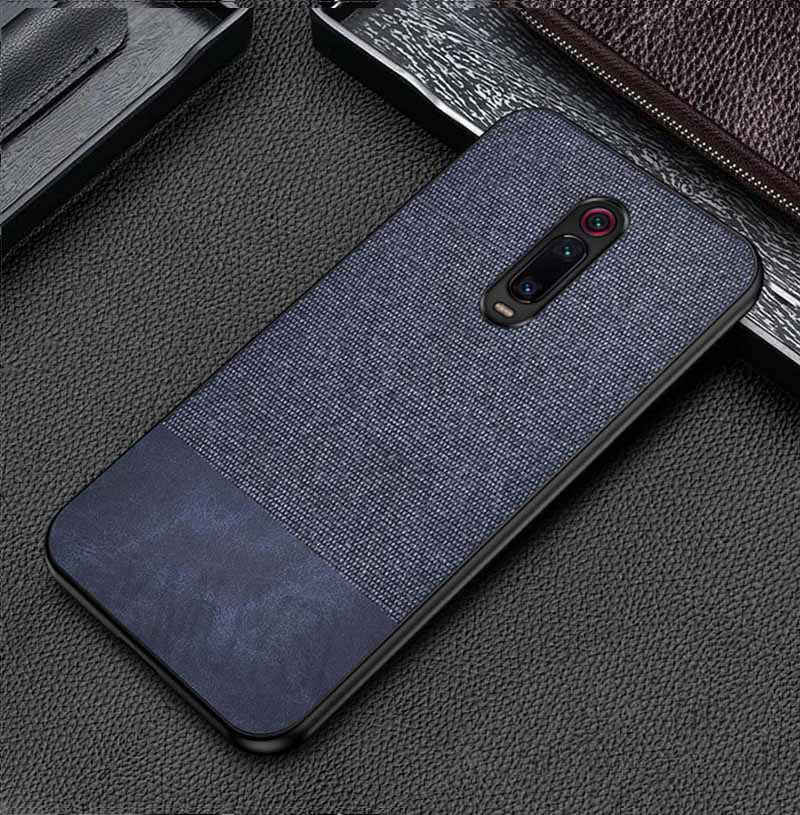 Blue Canvas Fabric Cover - Redmi K20 - Mobilegadgets360