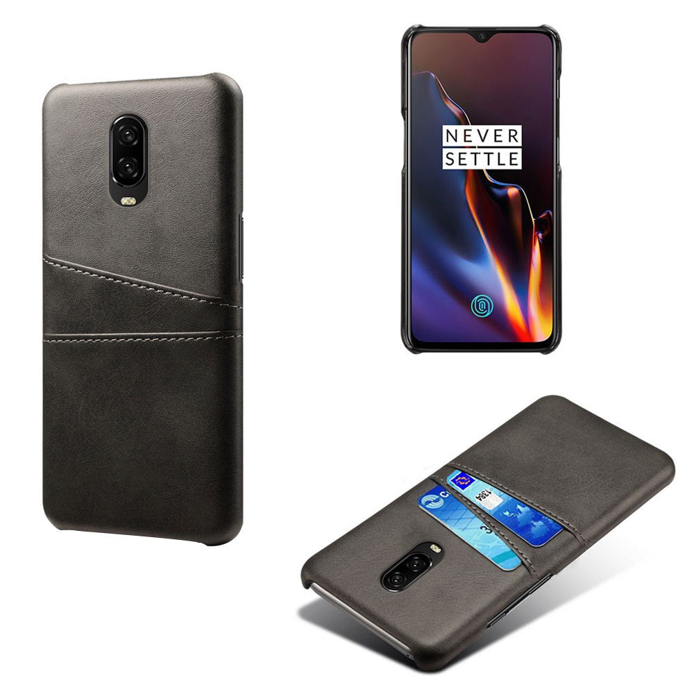 promo code fdf18 8750a Black Leather Wallet Case - OnePlus 6T