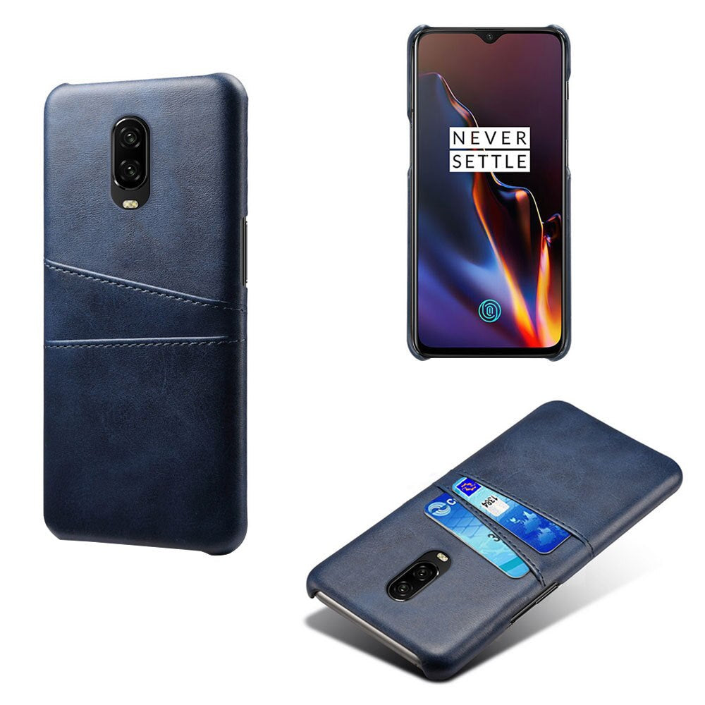 Blue Leather Wallet Case - OnePlus 6T - Mobilegadgets360