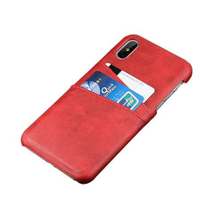 Card Holder & Wallet Case For iPhone X / XS - Red - Mobilegadgets360