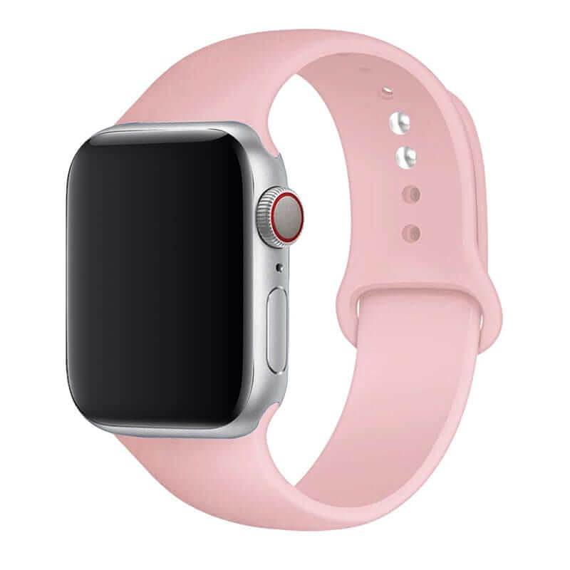 Sand Pink Silicone Apple Watch Band ( 42/44mm )