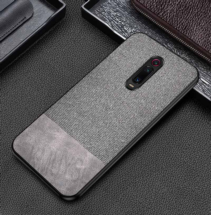 Grey Canvas Fabric Cover - Redmi K20 Pro - Mobilegadgets360