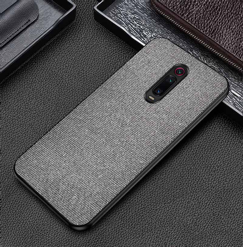 Grey Fabric Cover - Redmi K20 Pro - Mobilegadgets360