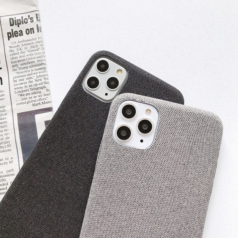 Light Grey Fabric Case - iPhone 11 Pro - Mobilegadgets360