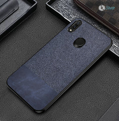 Blue Canvas Fabric Cover - Realme 3 - Mobilegadgets360