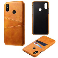 Yellow Leather Wallet Case - Redmi Note 5 Pro