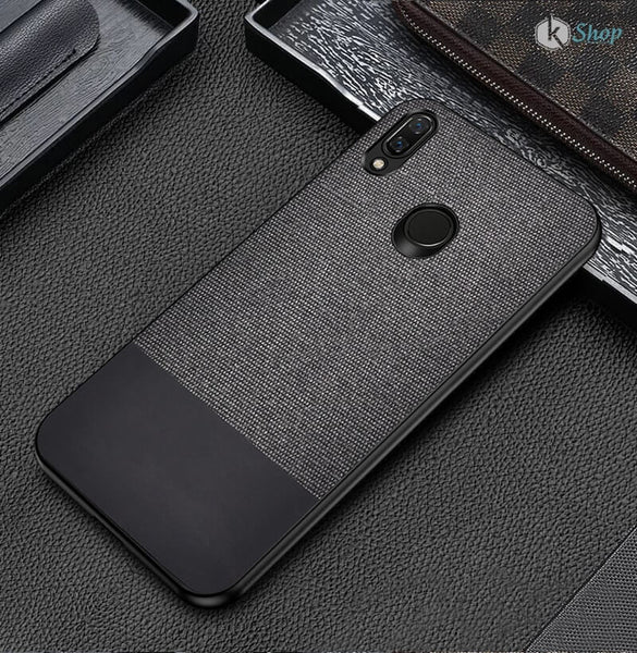 Canvas Black Fabric Cover - Redmi Note 7S - Mobilegadgets360