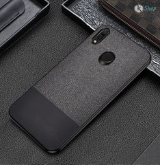 Canvas Black Fabric Cover - Redmi Note 7 - Mobilegadgets360