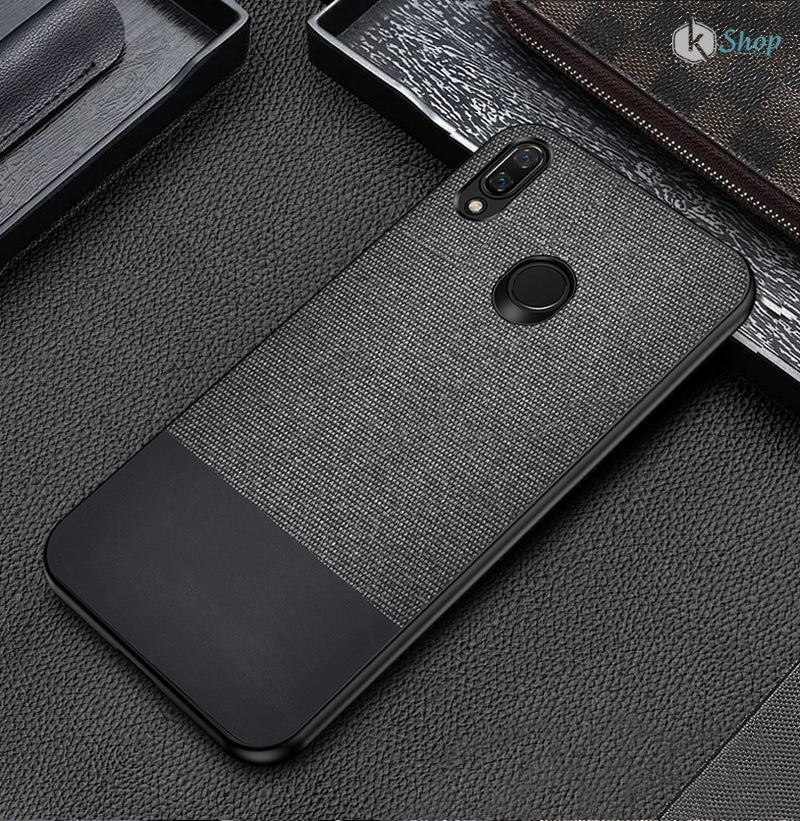 Black Canvas Fabric Cover - Realme 3 Pro - Mobilegadgets360
