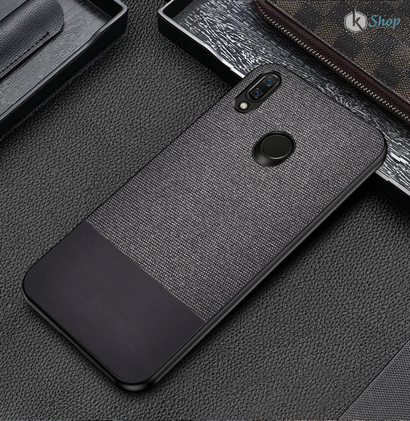 Black Canvas Fabric Cover - Realme 3 - Mobilegadgets360