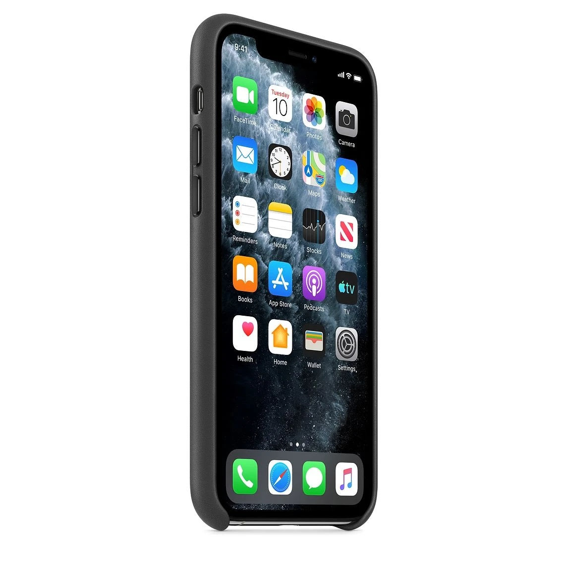 Silicon Case For iPhone 11 Pro Max - Black - Mobilegadgets360