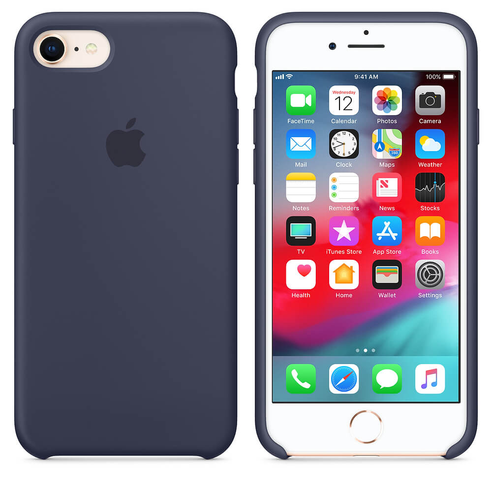 Midnight Blue Liquid Silicon Case - iPhone 8 Plus - Mobilegadgets360