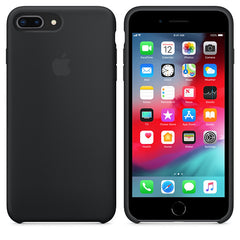 Black Liquid Silicon Case - iPhone 7 Plus