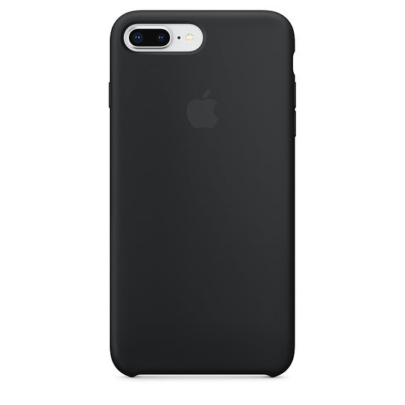 Black Liquid Silicon Case - iPhone 7 Plus & 8 Plus