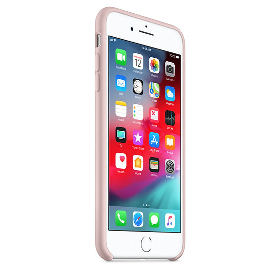Baby Pink Liquid Silicon Case - iPhone 8 Plus
