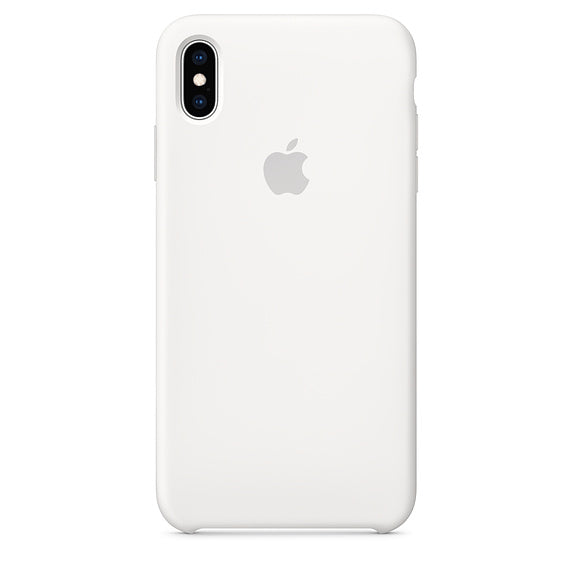 White Liquid Silicone Case - iPhone XS