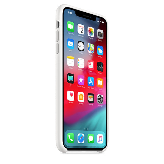 White Liquid Silicone Case - iPhone XR