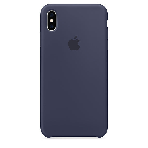 Midnight Blue Liquid Silicone Case - iPhone XS