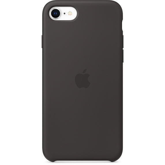 Black Liquid Silicone Case - iPhone SE 2020
