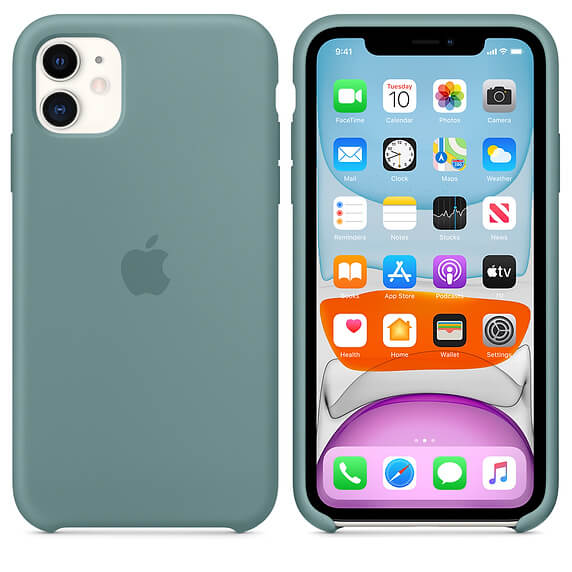 Silicone Case For iPhone 11 – Pine Green