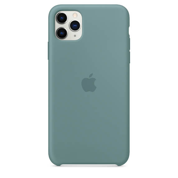 Silicone Case For iPhone 11 Pro Max - Pine Green
