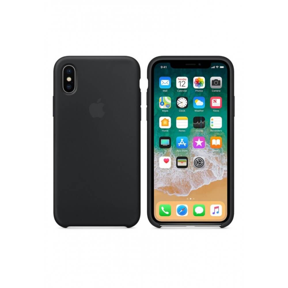 Black Liquid Silicon Case - iPhone X / XS - Mobilegadgets360