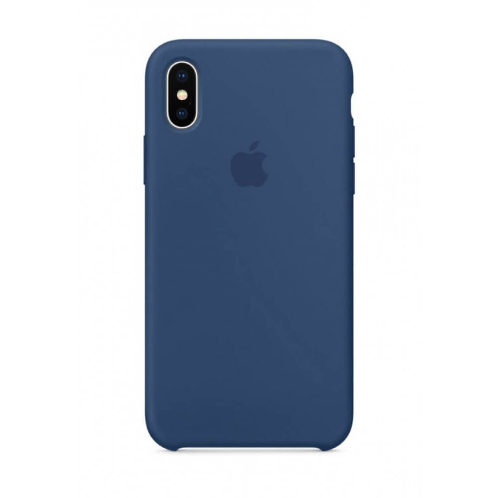 Cobalt Blue Liquid Silicon Case - iPhone XS - Mobilegadgets360