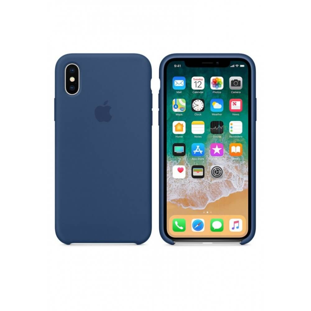 Cobalt Blue Liquid Silicon Case - iPhone X - Mobilegadgets360