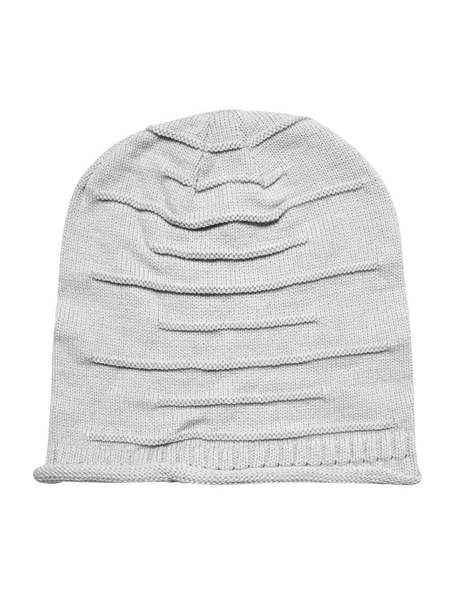 Combo - Black & Grey Wrinkled Beanie Caps - Mobilegadgets360