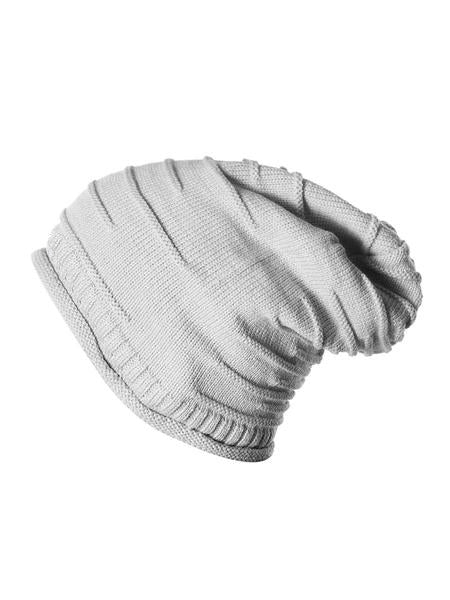 Grey Wrinkled Winter Beanie Caps - Mobilegadgets360