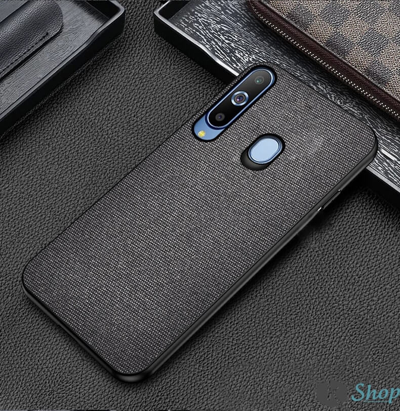 Black Fabric Back Cover - Samsung M40 - Mobilegadgets360