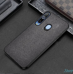 Black Fabric Back Cover - Samsung M40