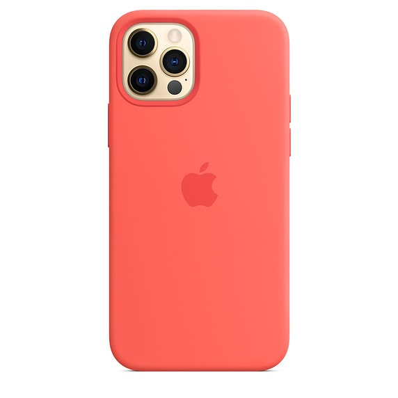 iPhone 12 & 12 Pro Silicone Case - Pink Cirtus