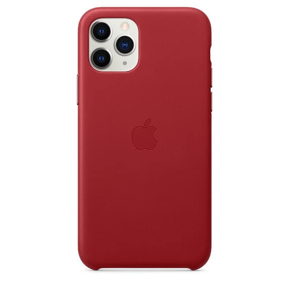 iPhone 11 Pro Max Leather Case - Red