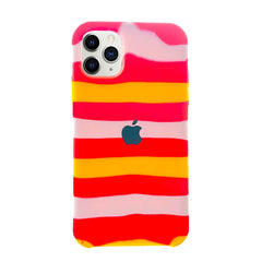 iPhone 11 Pro Max Silicone Rainbow Case - Tiring