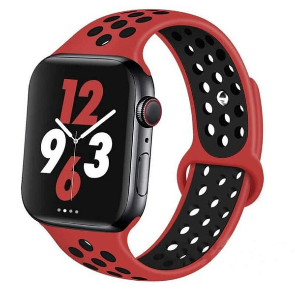 Red / Black Sports Apple Watch Band ( 42/44mm)