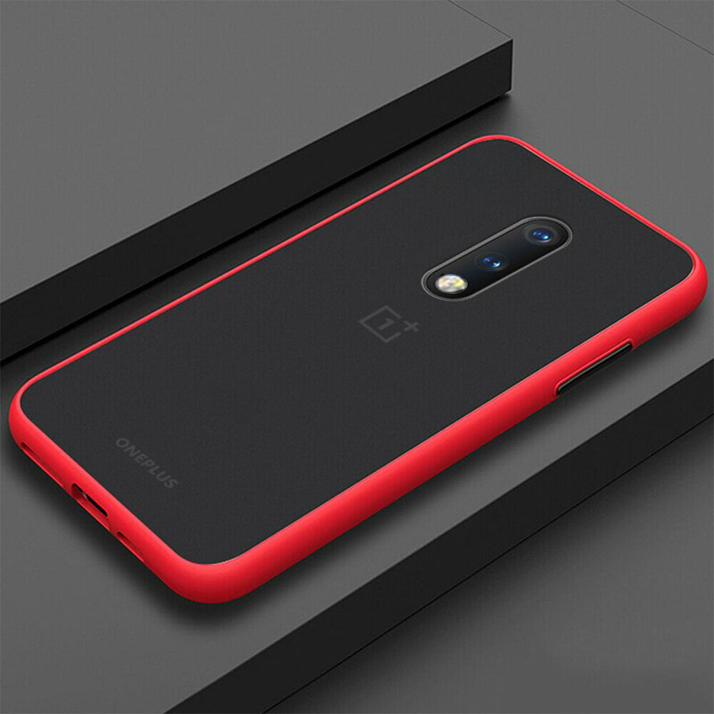 Smoke Matte Case For OnePlus 7 -Red