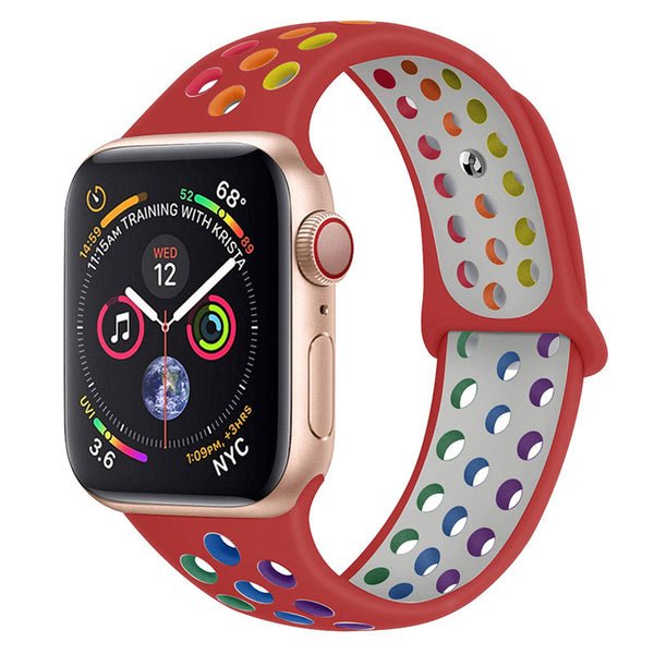 Red Rainbow Apple Watch Band ( 42/44mm)