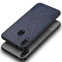 Blue Canvas Fabric Cover - Redmi Note 7S - Mobilegadgets360