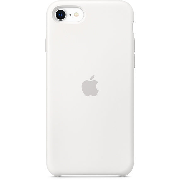 White Liquid Silicone Case - iPhone SE
