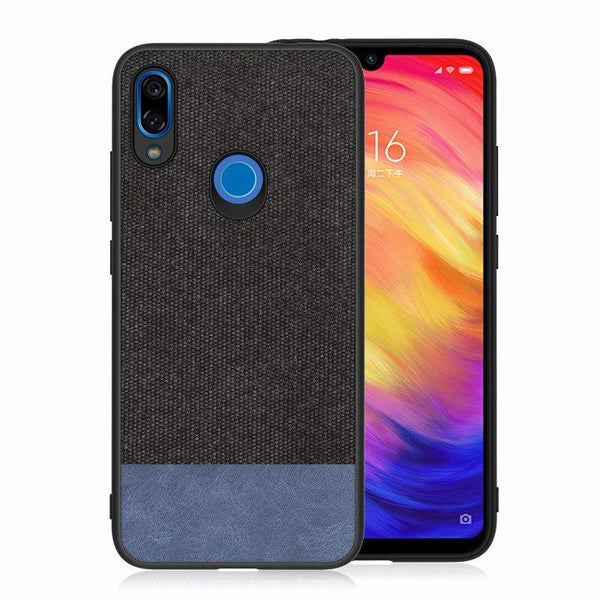 Canvas Black Fabric Cover - Redmi Note 7 / 7 Pro - Mobilegadgets360