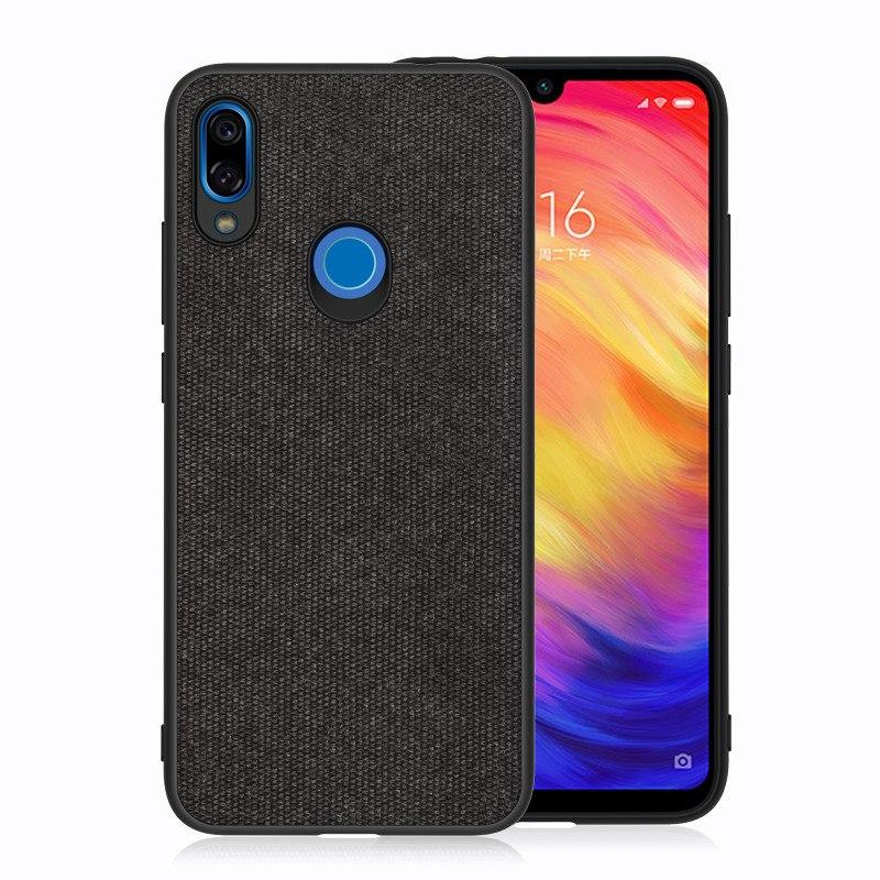 Plain Black Fabric Cover - Redmi Note 7 & 7 Pro - Mobilegadgets360