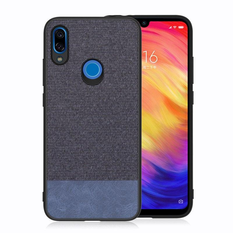 Canvas Blue Fabric Cover - Redmi Note 7 & 7 Pro - Mobilegadgets360